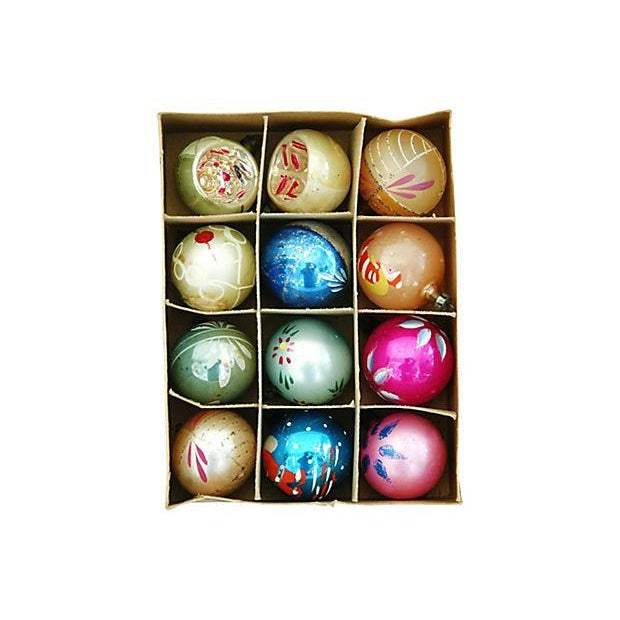 1960s Christmas Ornaments with Box - Set of 12 - Image 3 of 8