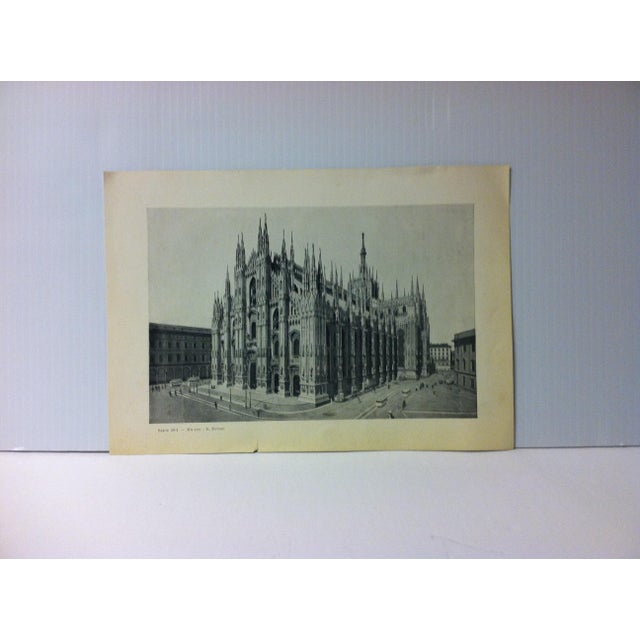 """This is a Vintage Print on Paper of Milano, Italy that is titled """"Il Duomo"""". The Print was Published in Italy and dates..."""