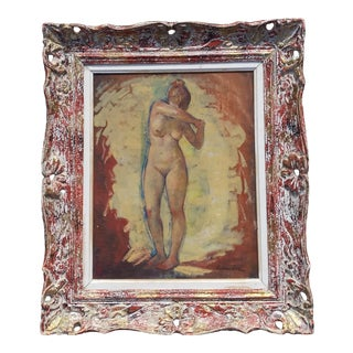 1960s Standing Nude Oil Painting on Canvas by Robert Rukavina For Sale