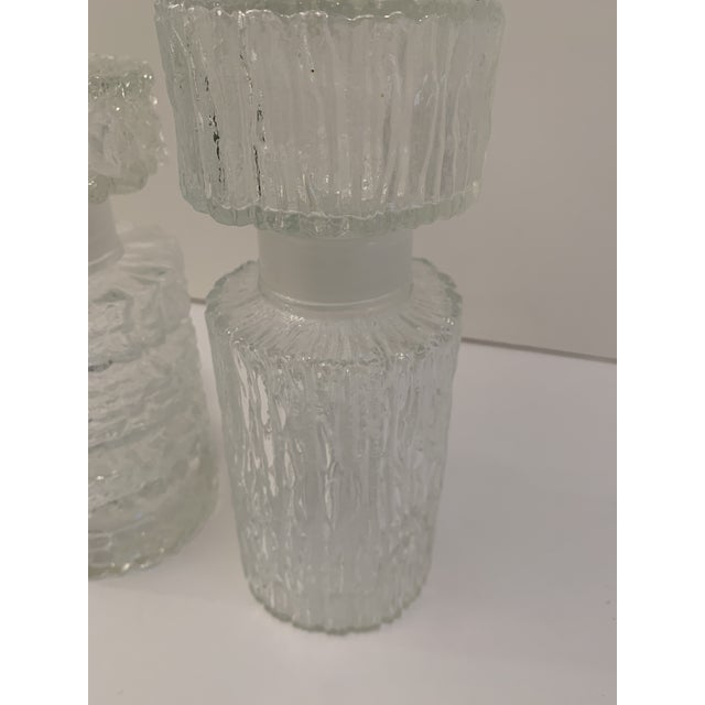 Brutalist Glass Decanters - a Pair For Sale - Image 4 of 11