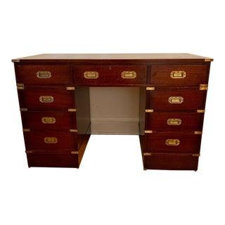 19th Century English Campaign Mahogany Desk For Sale