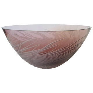 Amethyst Fruit Bowl by Salviati For Sale