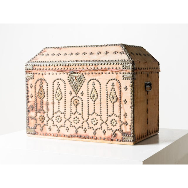 19th Century Spanish Upholstered Trunk For Sale - Image 6 of 6
