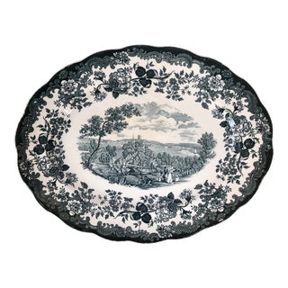 "Royal Worcester Palissy ""Avon Scenes"" Hand Engraved Porcelain Platter For Sale"