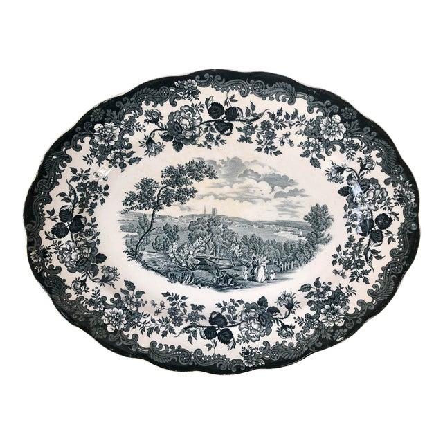 "Royal Worcester Palissy ""Avon Scenes"" Hand Engraved Porcelain Platter For Sale"