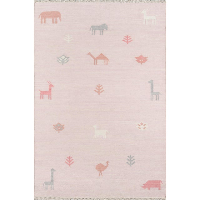 """Textile Erin Gates by Momeni Thompson Porter Pink Hand Woven Wool Area Rug - 3'6"""" X 5'6"""" For Sale - Image 7 of 7"""