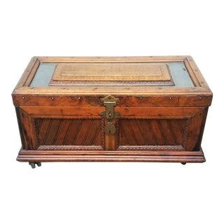 19th Century Antique Carpenter Tool Chest Trunk For Sale