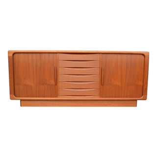 1960's Drylund Teak Sideboard With Tambour Doors For Sale