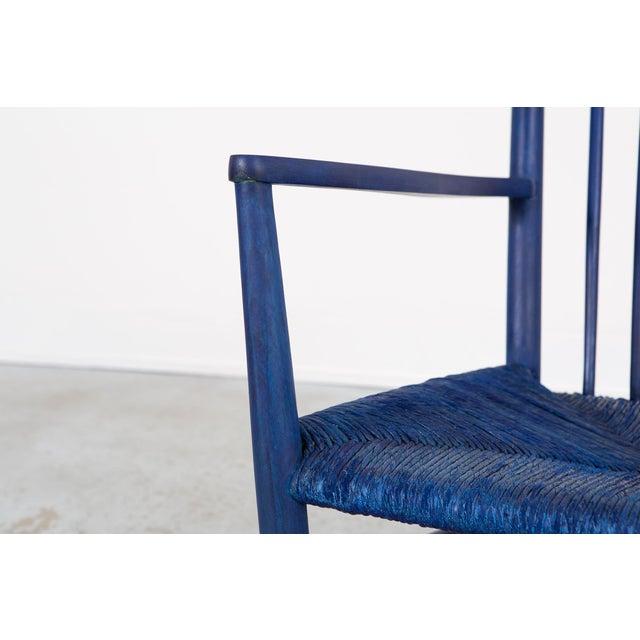 Blue Hans Wegner Royal Blue Rocker For Sale - Image 8 of 12