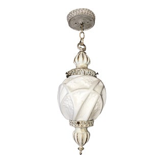 Art Deco Hanging Pendant Ceiling Light Fixture Martelle' 700 Series Consolidated Glass Co. 1930s For Sale