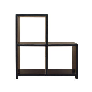 Black Lacquer Triangle Step Shape Display Cabinet Stand For Sale
