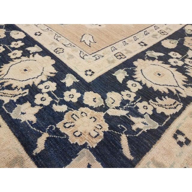 "Kafkaz Peshawar Angelina Brown & Blue Wool Rug - 10' x 13'9"" For Sale - Image 4 of 7"