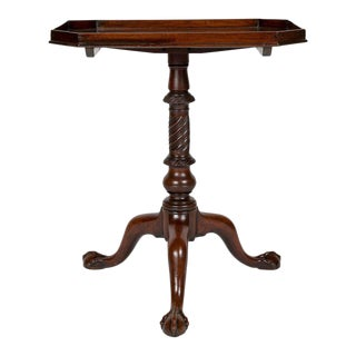 George III Mahogany Tilt Top Candle Stand