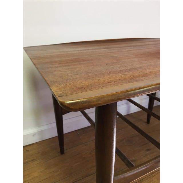 Bassett Mid-Century Two Tier Walnut Surfboard Side Tables - Pair - Image 7 of 11