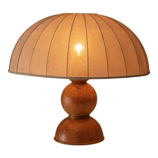 Rare Burl Table Lamp by Ingo Knuth For Sale