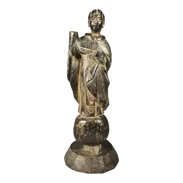 19th C. Carved San Vicente Ferrer Sculpture - Image 1 of 6