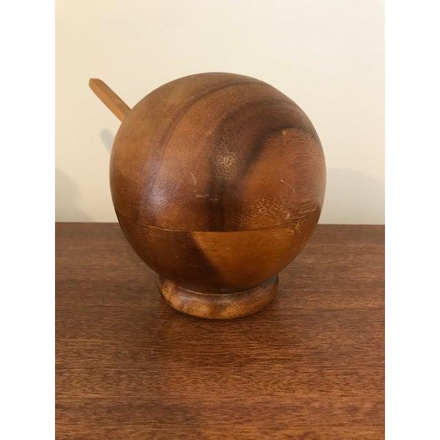 Boho Chic Mid-Century Wood Salt Cellar For Sale - Image 3 of 7