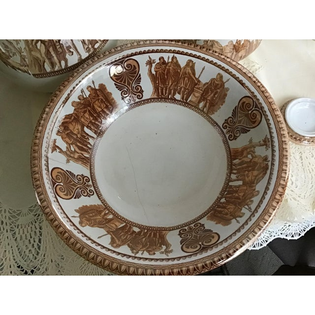 1800s Greek Roman Emperor Chamber Pot Pitcher Bathroom Set - 7 Pieces For Sale In Cleveland - Image 6 of 13
