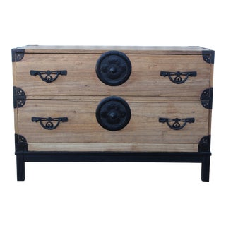 Antique 19th Century Japanese Tansu Chest For Sale