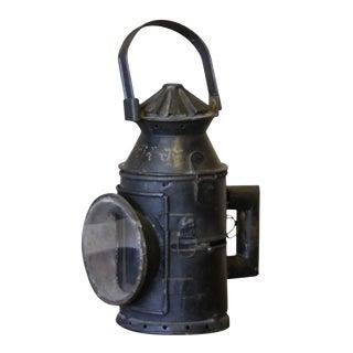 Antique Train Glass Lantern For Sale