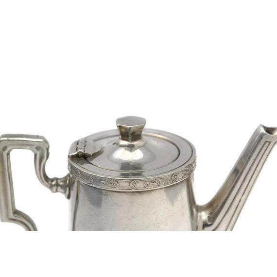Silver 20th Century Art Deco Ercuis Silver Orient Express Coffee Pot For Sale - Image 8 of 9