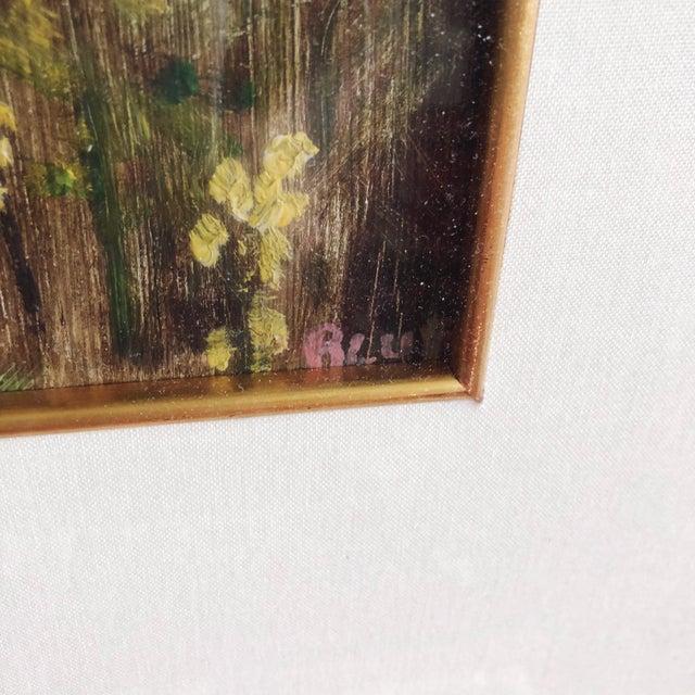 Vintage Impressionist Landscape Oil Painting For Sale - Image 4 of 9
