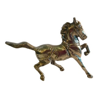 1949 Brutalist Brass Prancing Horse Figurine