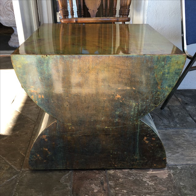 Luminescent Custom Bronze Occasional Table - Image 2 of 7