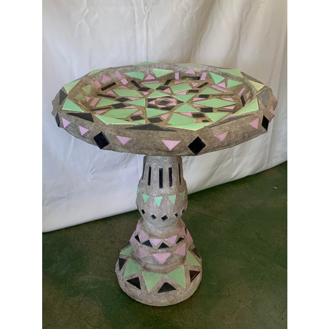 Vintage Malibu Tile Bird Bath For Sale - Image 4 of 13