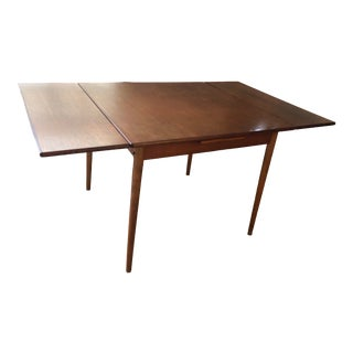 Danish Modern Teak Expanding Dining Table For Sale