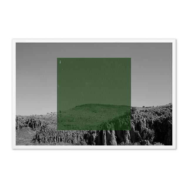 Contemporary Green on BW2 by Riley Ryan-Wood Contemporary Photograph in White Frame, Small For Sale - Image 3 of 3