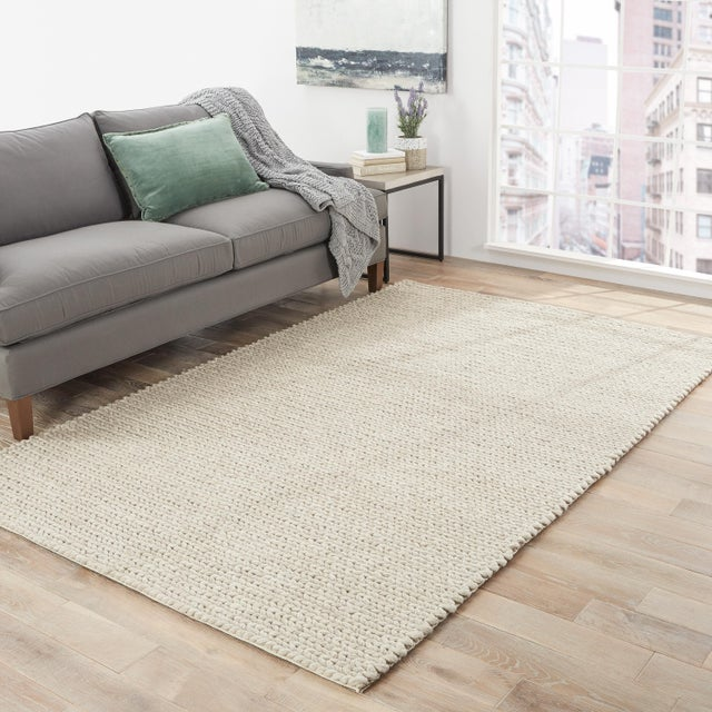 2010s Jaipur Living Braiden Handmade Solid Gray Area Rug - 2′ × 3′ For Sale - Image 5 of 6
