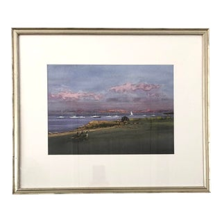 "Late 20th Century ""Returning Home (South Dartmouth, Massachusetts)"" Watercolor Painting by Frank McCoy, Framed For Sale"