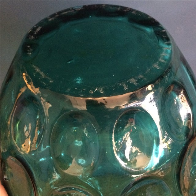 Large Turquoise Glass Vessel - Image 6 of 6
