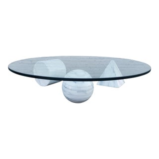 Massimo Vignelli Metafora Marble Coffee Table For Sale