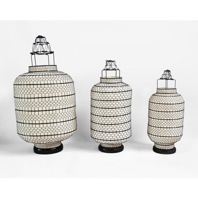 Industrial Cylinder Heibe Wire Lantern Large For Sale - Image 3 of 3