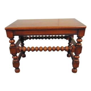 Jacobean Maple Vanity Bench For Sale
