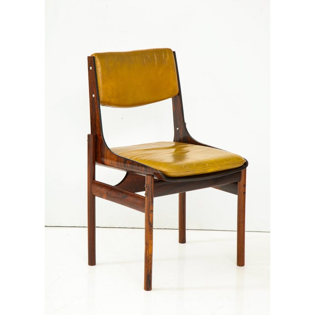 Jacaranda and Leather Dining Chairs From Brazil - Set of 4 For Sale In New York - Image 6 of 13