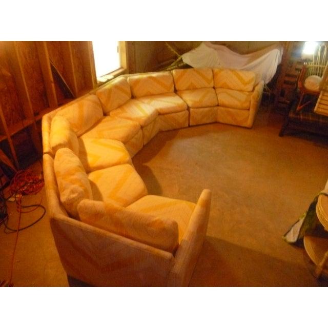 Curved Sofa Atlanta: Enjoy Vintage MCM Milo Baughman Bernhardt Flair Mid