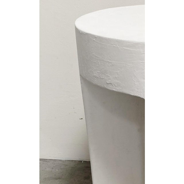 Sano Round Detailed Plaster Accent Table For Sale - Image 4 of 4