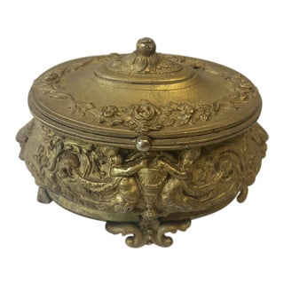 Gilded Repousse Dresser Box For Sale