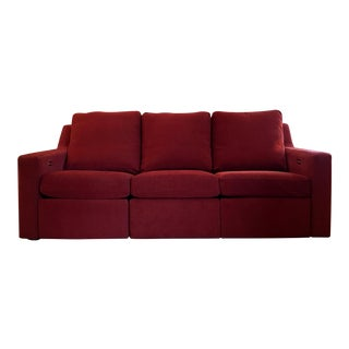 Dual Reclining Pindler Fabric Sofa For Sale