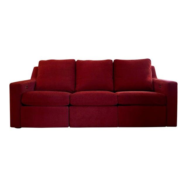 Dual Reclining Pindler Fabric Sofa - Image 1 of 7