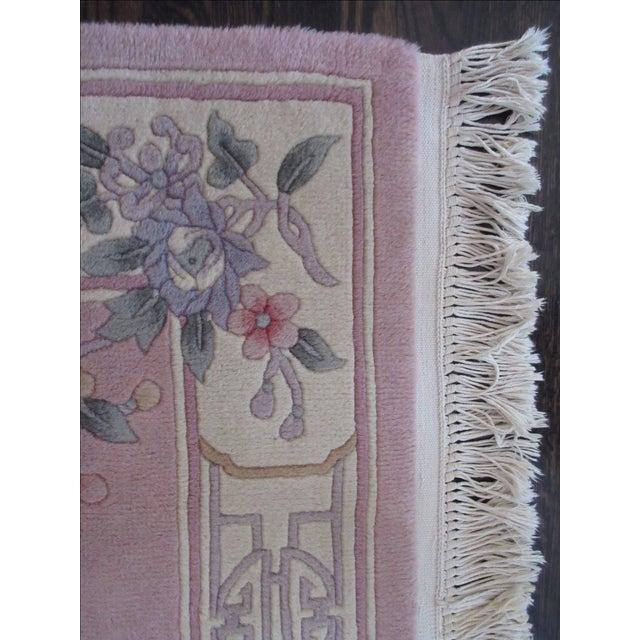 Asian Pink & White Runner Rug - 3′6″ × 6′6″ - Image 9 of 10