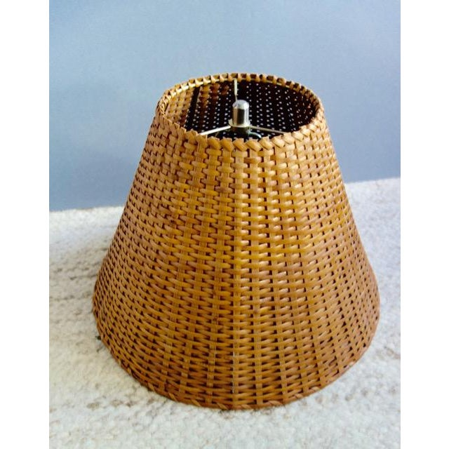 1970s Wicker Rattan Lampshade For Sale - Image 9 of 9