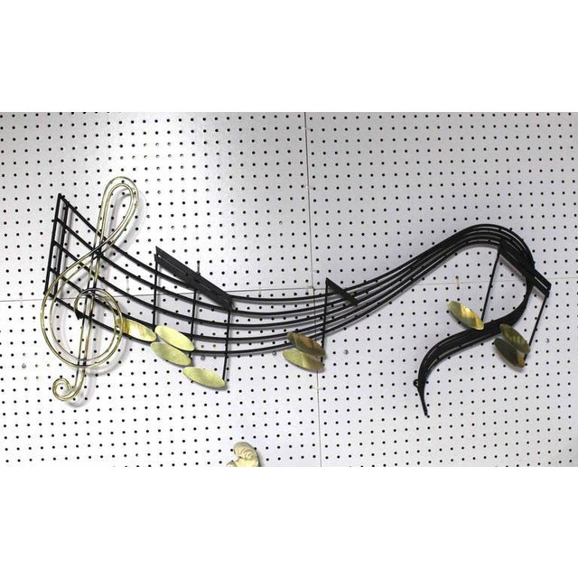Mid-Century modern music theme sculpture by Curtis Jere.