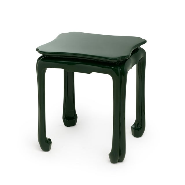Contemporary KRB New York Collection Chinoiserie Table in Bottle Green For Sale - Image 3 of 3