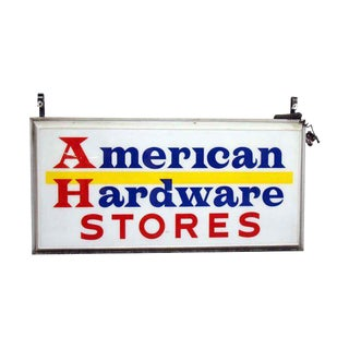 Vintage American Hardware Hanging Store Sign For Sale