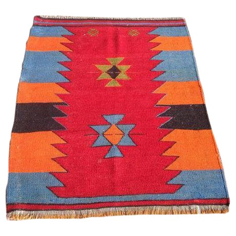 Vintage Turkish Kilim Rug - 2′9″ × 3′6″ - Image 1 of 6