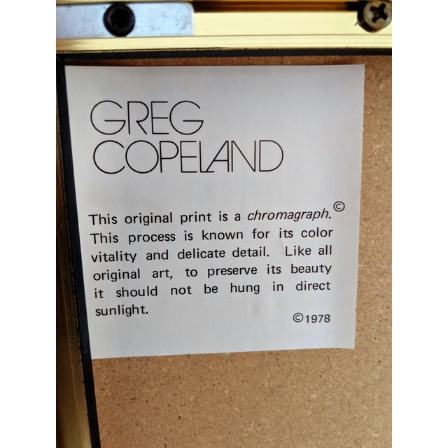 Metal Greg Copeland Asian Themed Chromagraph Print, 1978 For Sale - Image 7 of 11